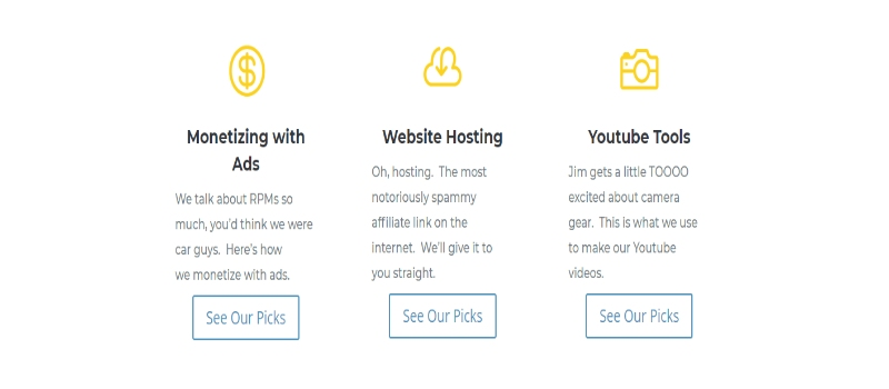 Project 24 features monetizing with ads. website hosting and YouTube tools
