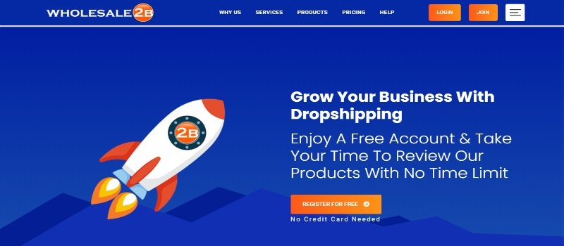 Grow your dropshipping biz with Wholesale2b today