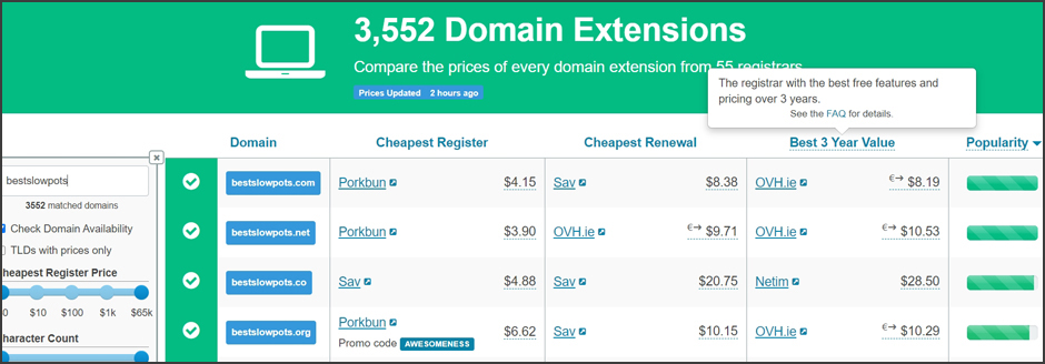 How to get the cheapest domain name registration tldlist