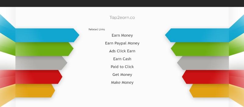 Tap2Earn Homepage